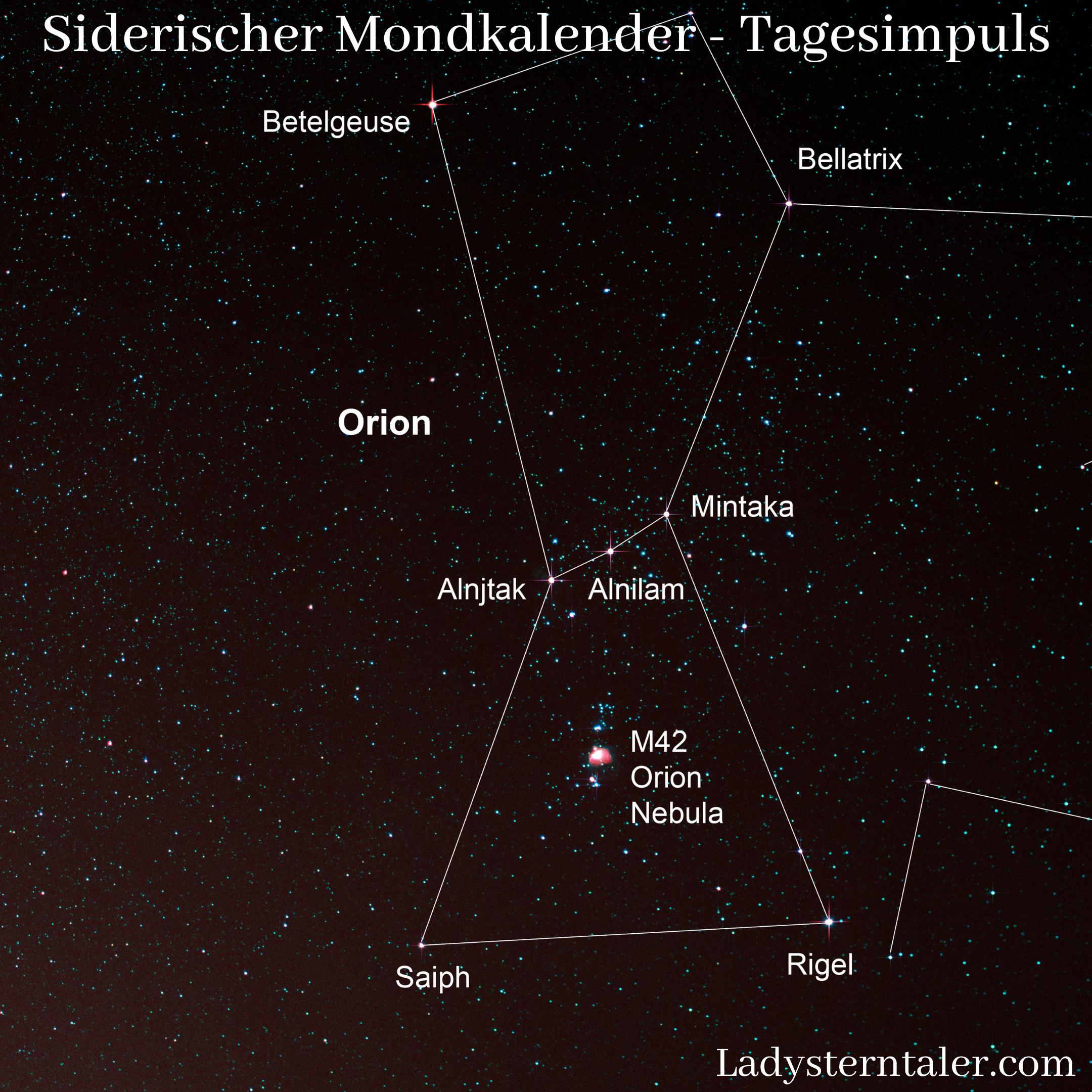 Siderischer Mondkalender - Tagesimpuls