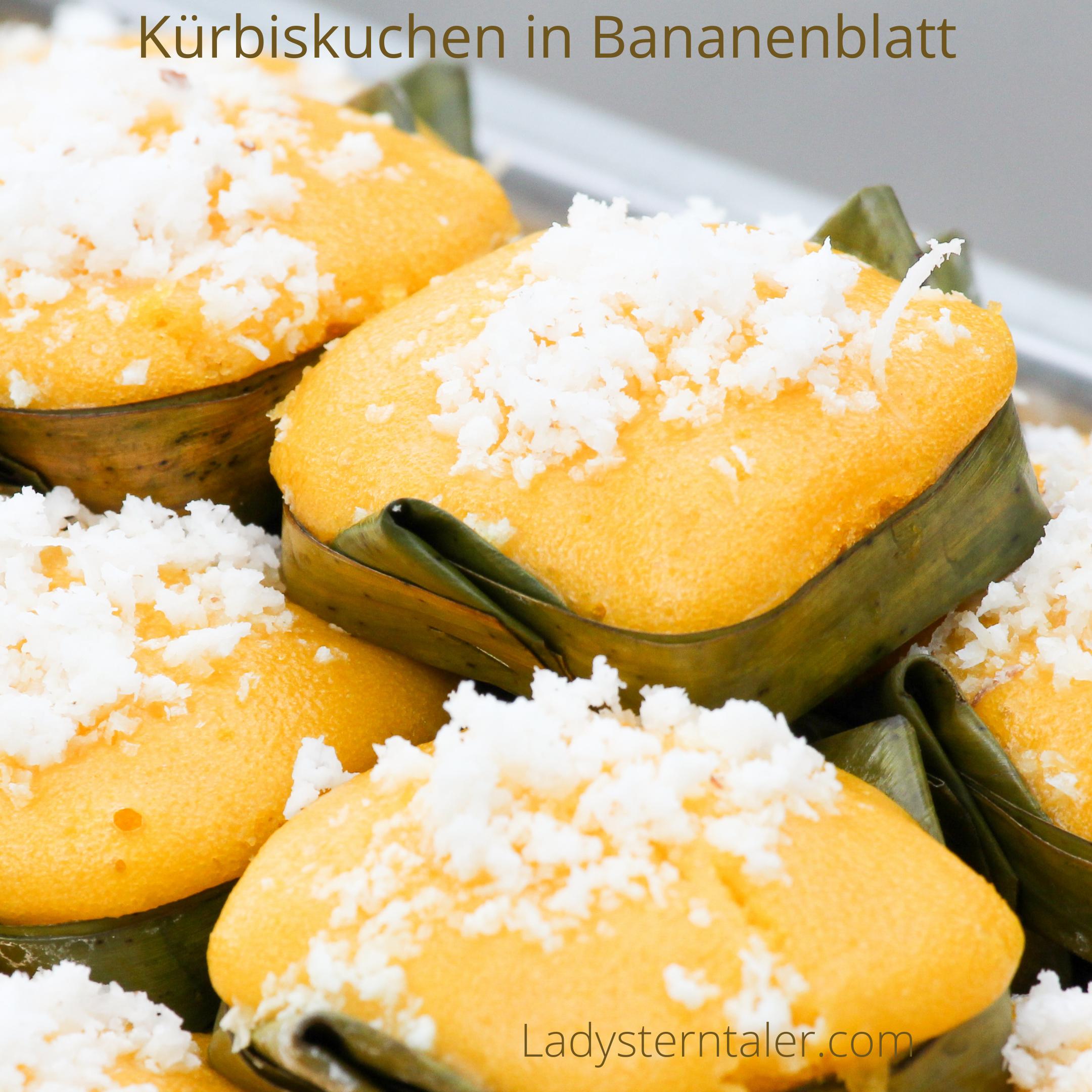 Kürbiskuchen in Bananenblatt (1)